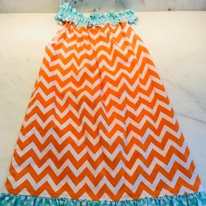 Girls Chevron Print Dress Size 5